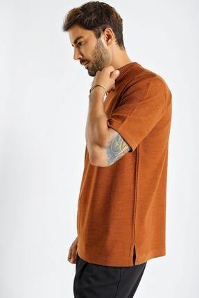 CHUBA Erkek Oversize Triko T-shirt Tarçın 20w188 4
