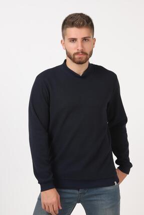 Tena Moda Erkek Lacivert Yarım Balıkçı Yaka Selanik Sweatshirt 1