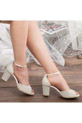 Adım Adım Sedef Platform Topuk Bilekten Bağlama Abiye Gelin Kadın Ayakkabı • A192ysml0013 4