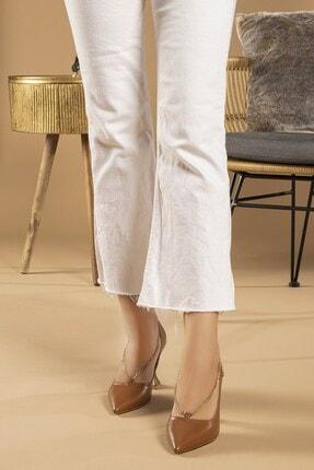 Tessera Kadın Camel Topuklu Stiletto Ayakkabı 1