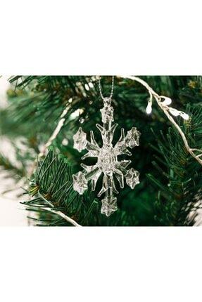 English Home Snowflake Cam 3'lü Askılı Aksesuar 6,5 Cm Şeffaf 2