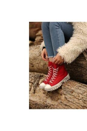 Kadın Kırmızı Spor Topuklu Bot 688528