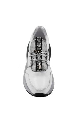 Abbondare Hakiki Deri Beyaz Kadın Spor Ayakkabı-sneaker 2