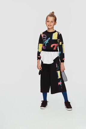 Picture of Kız Çocuk Siyah Pantolon 20fwll08153