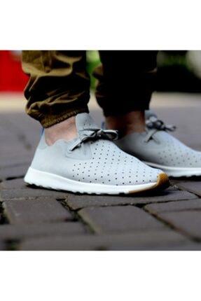 Native Shoes - Unisex Spor Ayakkabısı - Apollo Moc Pigeon Grey/shell White/nat Rubber 4