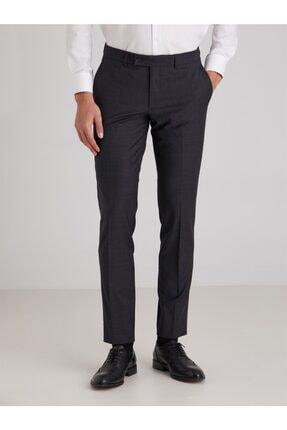 تصویر از Antrasit Düz Bez Ayağı Dokuma Kumaş Erkek Pantolon - Slim Fit