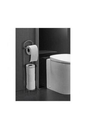 Ayaklı Tuvalet Kağıtlığı Wc Kağıtlık Paslanmaz Yedekli Tuvalet Kağıtlığı Wc 0105