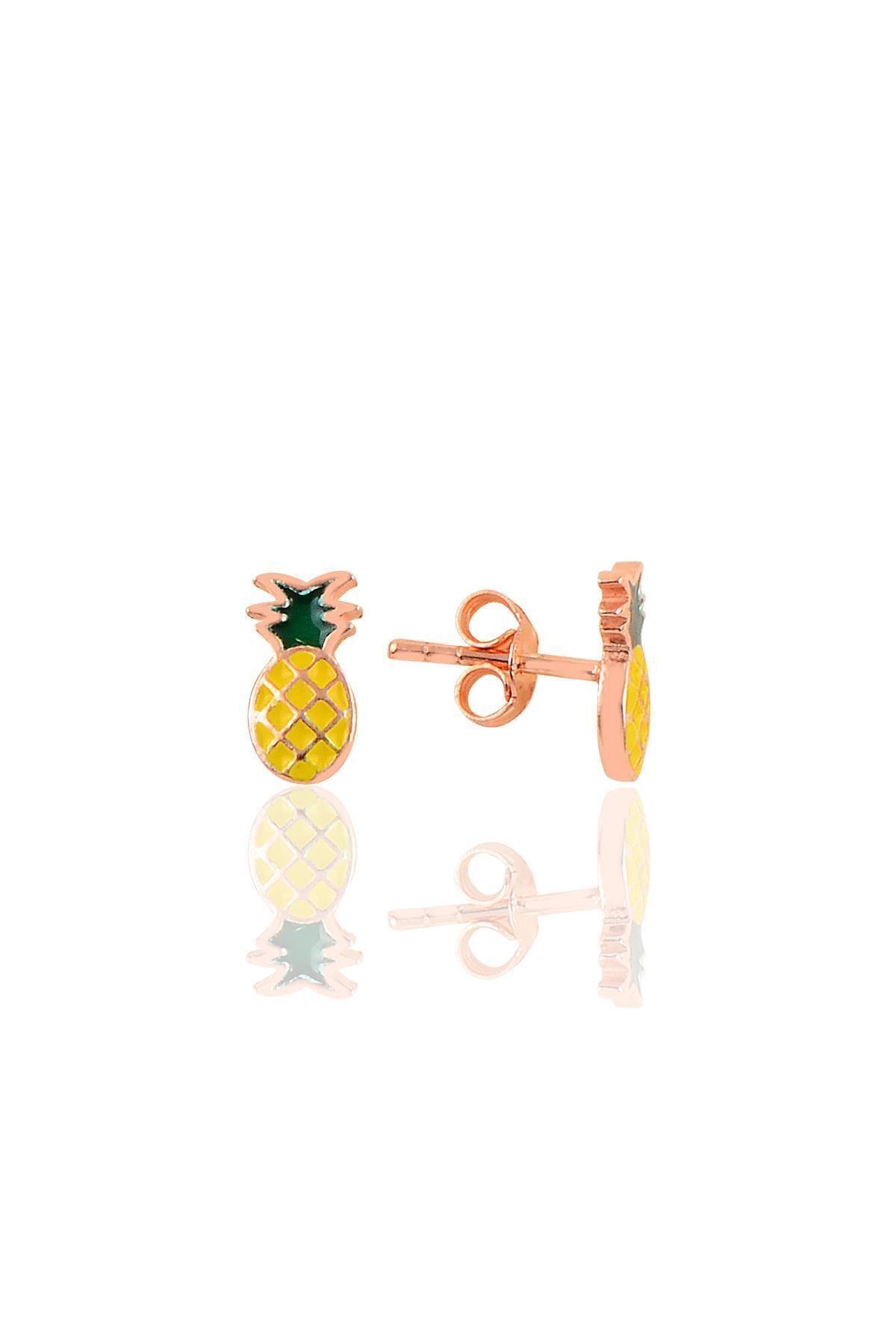 Gümüş Ananas Küpe