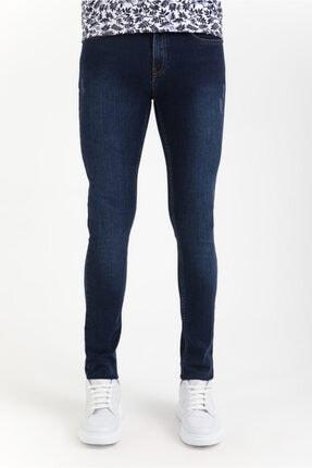 Avva Erkek Lacivert Slim Fit Jean Pantolon A01y3571 0