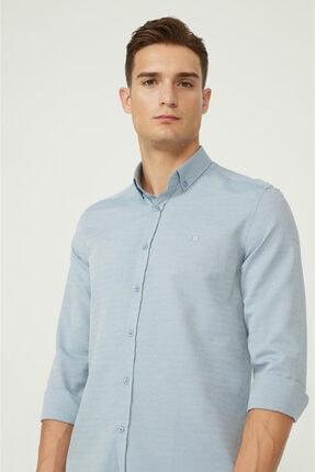 Avva Erkek Koyu Mavi Oxford Düğmeli Yaka Regular Fit Gömlek E002000 1
