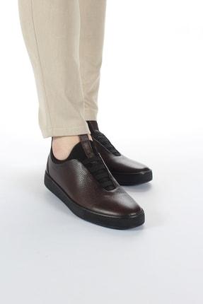 Alba Kahve Hakiki Deri Günlük Erkek Ayakkabı 1