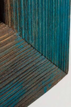 bluecape Doğal Ağaç Boy Konsol Ayna Ve Eskitme Kalorifer Petek Üstü Koridor Demir Ayak Dresuar Takımı 2