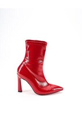 Ataköy Ayakkabı Kadın Rugan Topuklu Bot 0