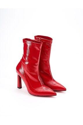 Ataköy Ayakkabı Kadın Rugan Topuklu Bot 1