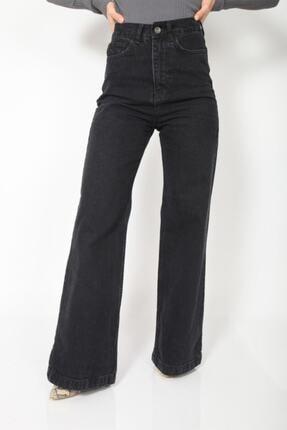 MADAME X Kadın Siyah Bol Paça Ekstra Yüksek Bel Kot Pantolon 2