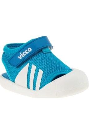 Vicco Erkek Bebek Mavi İlk Adım Sandalet 0