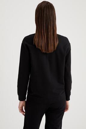 Defacto Kadın Siyah Relax Fit Sweatshirt 2