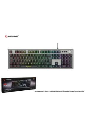 Rampage Kb-r221 Handy Rainbow Aydınlatmalı Metal Panel Gaming Oyuncu Klavyesi 4