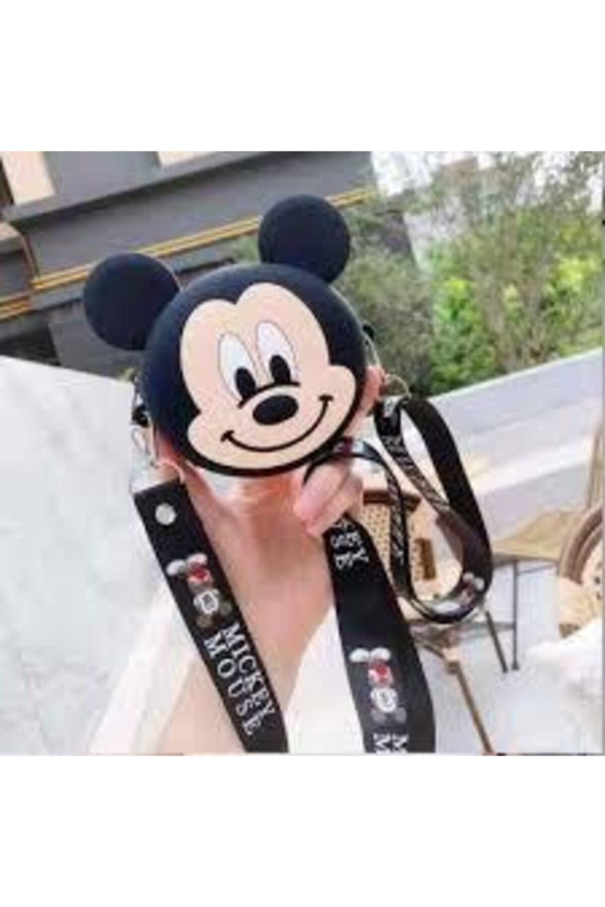 Kız Çocuk Silikon Mickey Mouse Tasarım Omuz Çanta