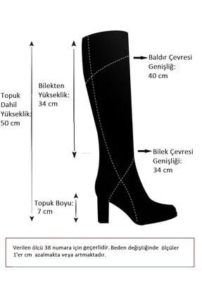 Fox Shoes Siyah Kadın Çizme J749198302 4
