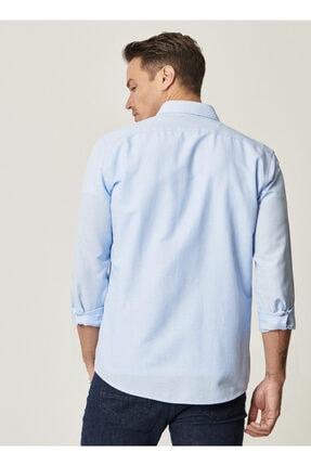 Altınyıldız Classics Tailored Slim Fit Dar Kesim Düğmeli Yaka Oxford Gömlek 2
