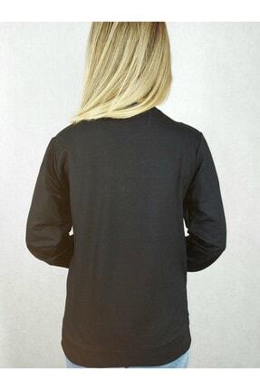 Modern Giyin Yıldız Baskılı Bayan Sweatshirt 2