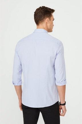 Avva Erkek Mavi Düz Alttan Britli Yaka Slim Fit Gömlek A02y2244 2
