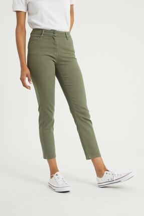 BOSHETTI Haki Yüksek Bel Mom Comfort Slim Fit Jeans 3