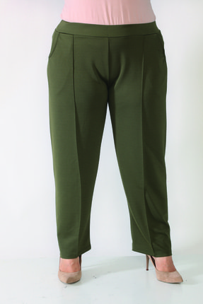 Şahbaz Büyük Beden Rahat Kesim Kumaş Pantolon 0