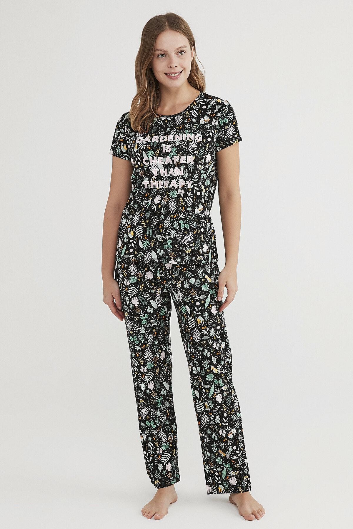 Penti Kadın Çok Renkli Gardening Pijama Takımı 0