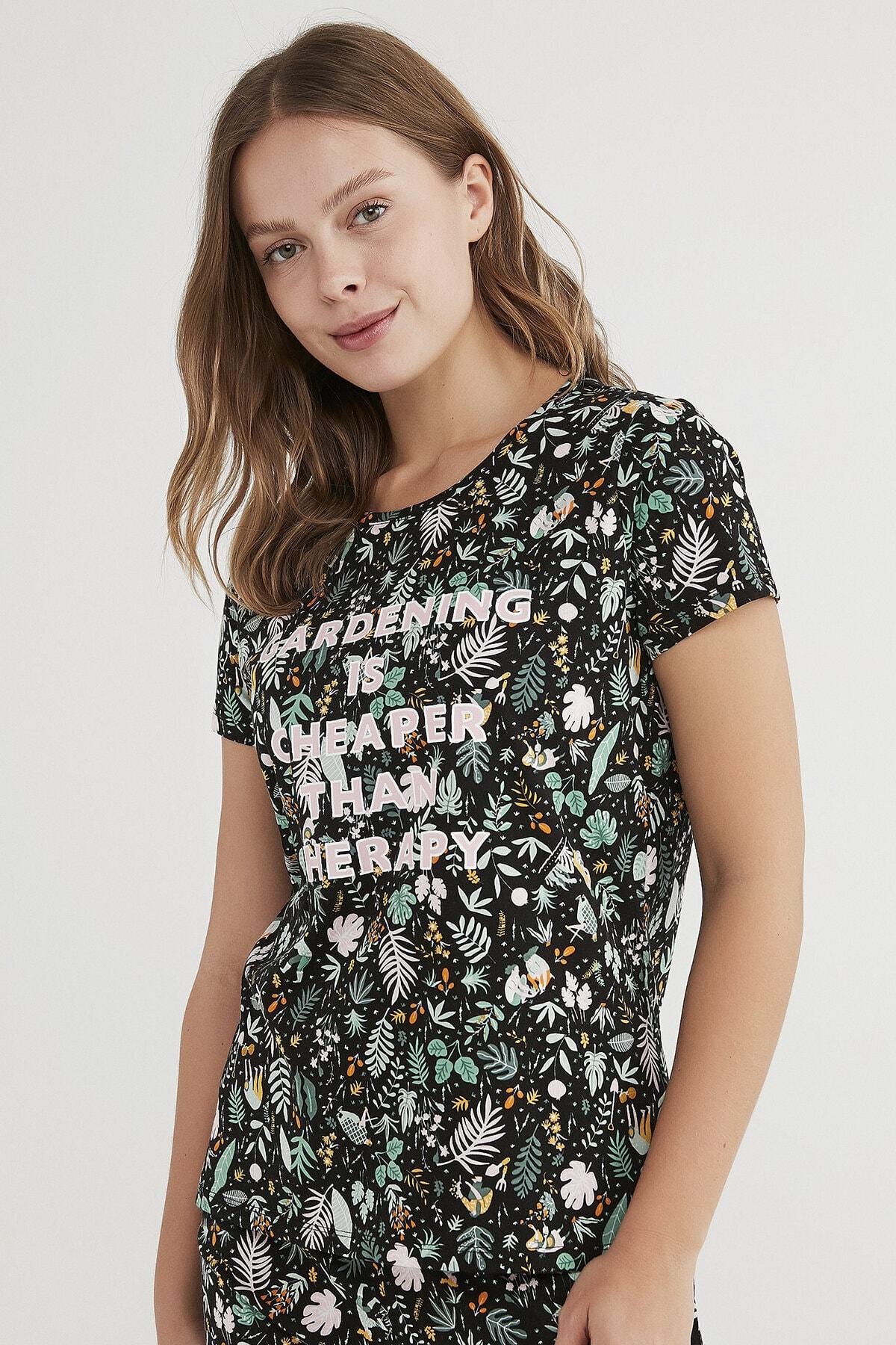 Penti Kadın Çok Renkli Gardening Pijama Takımı 2