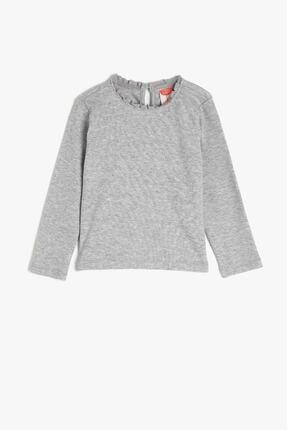 Koton Kız Bebek Gri T-shirt 0