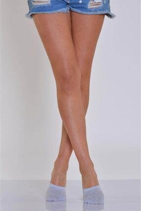 Idilfashion 4'lü Paket - Gri Kabartma Desenli Kadın Babet Çorabı B-art048 I4W048011116
