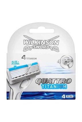 Wilkinson Sword Quattro Titanium Tıraş Bıçağı Ve 4 Yedek Kartuş 2