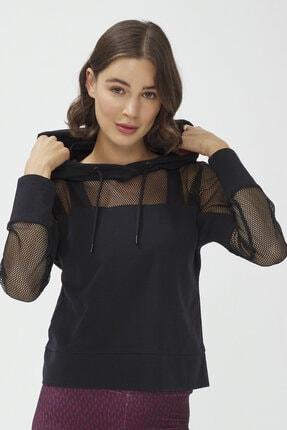 Penti Siyah Fishnet Detailed Sweatshirt 0