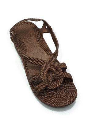 KAŞGAR Kadın Kahverengi Sandalet 1