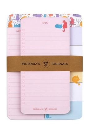 Victoria's Journals Ders Çalışma Seti 2 Li Kawaii Cats 0