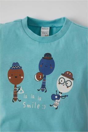 Defacto Erkek Bebek Baskılı 2'li Kısa Kol Pamuklu Tişört 2