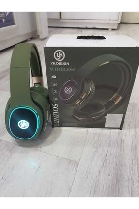 YK Design Yeşil Led Işıklı Bluetooth Kafaüstü Wireless Kulaklık 1