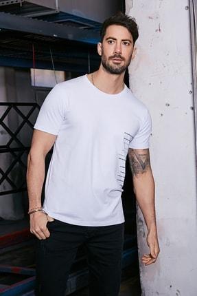 Sateen Men Erkek Beyaz Baskılı T-Shirt 1