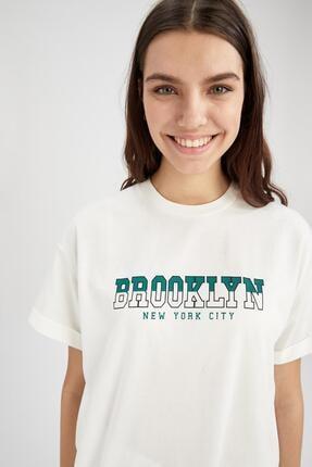 Defacto Kadın  Kısa Kol  T-Shirt 0