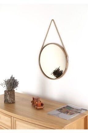 Fold&Go Capella Ayna - Halat Askılı Ayna - Dekoratif Ayna - Yuvarlak Ayna - Ahşap Çerçeveli Ayna -gümüş Ayna 0