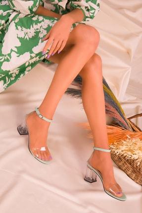 Soho Exclusive Yeşil Kadın Klasik Topuklu Ayakkabı 16132 2