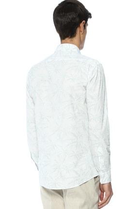 Network Erkek Beyaz Baskılı Gömlek 2400404824178 2