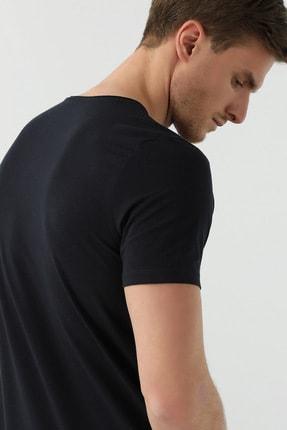 Network Erkek Slim Fit Siyah T-shirt 1077937 3