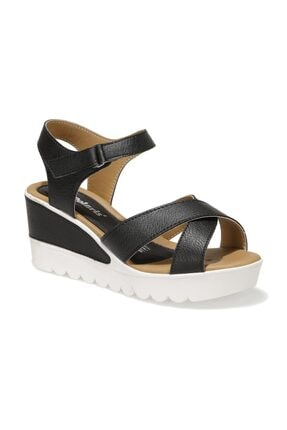 Polaris 91.308569.Z 1FX Siyah Kadın Dolgu Topuklu Sandalet 101016737 0