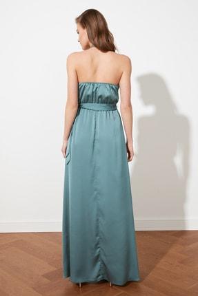 TRENDYOLMİLLA Mint Bağlama Detaylı Saten Abiye & Mezuniyet Elbisesi TPRSS21AE0025 2