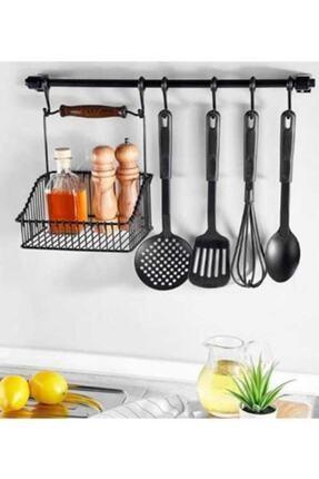 Supply Home Özel Seri Ferforje Sepet Siyah Ve Askı Aparatı, Mutfak, Fincan, Askılık 0