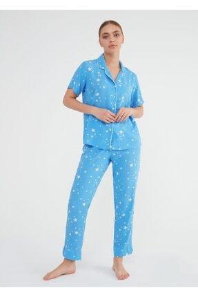Suwen Fiona Maskulen Pijama Takımı 0