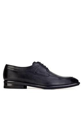 Cabani Işleme Detaylı Light Taban Bağcıklı - Erkek Ayakkabı Siyah Analin Deri 1